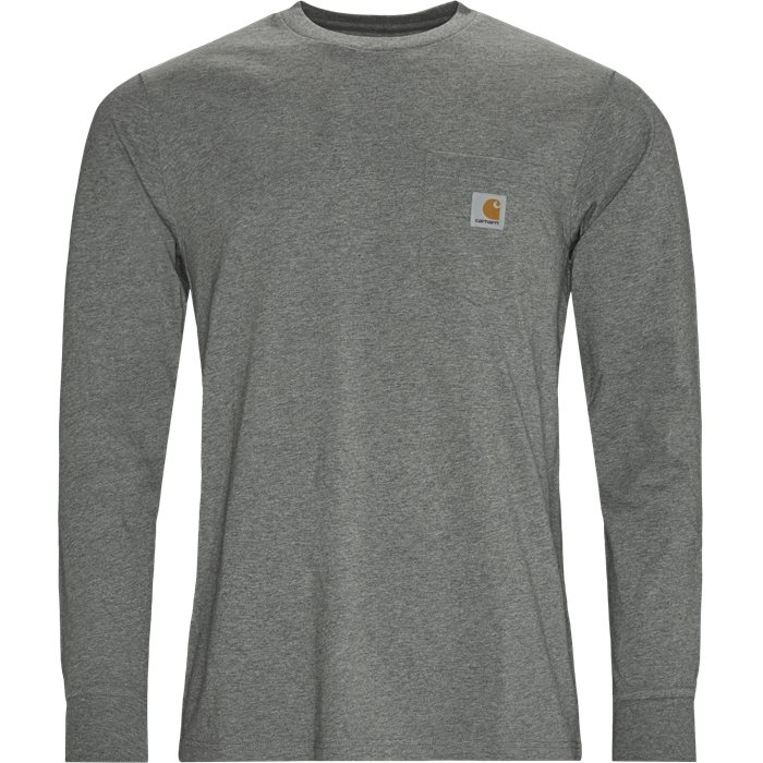 L/S Pocket T-shirt - T-shirts - Regular - Grå